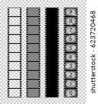 vector isolated film strips on... | Shutterstock .eps vector #623720468
