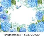 floral pattern for design cards ... | Shutterstock . vector #623720930