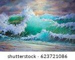 Wild Big Storm Sea Waves  ...
