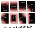 glitter background with new... | Shutterstock .eps vector #623729408