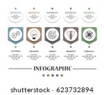 abstract infographic isolated... | Shutterstock .eps vector #623732894