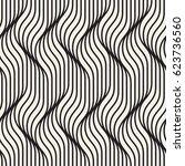 seamless ripple pattern.... | Shutterstock .eps vector #623736560