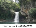 Waterfall And Pool With Lava...