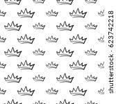attractive king crown vector... | Shutterstock .eps vector #623742218