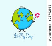 earth day. eco friendly ecology ... | Shutterstock .eps vector #623742953