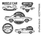 Set Of Classic Muscle Car...