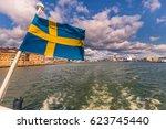 Small photo of Flag of Sweden in Gothenburg, Sweden