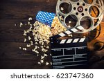 cinema concept of vintage film... | Shutterstock . vector #623747360