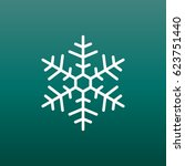 snowflake icon vector...