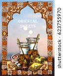 east tea illustration. oriental ... | Shutterstock .eps vector #623755970