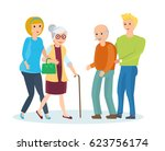 young people with their... | Shutterstock .eps vector #623756174