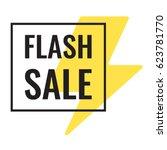 flash sale. vector flat... | Shutterstock .eps vector #623781770