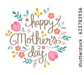 hand drawn happy mother's day... | Shutterstock .eps vector #623783936