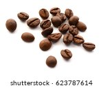 handful of fair trade coffee... | Shutterstock . vector #623787614