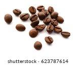 handful of fair trade coffee... | Shutterstock . vector #623787614