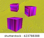 abstract modern isometric... | Shutterstock . vector #623788388