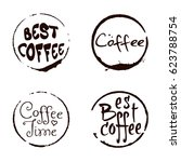 vector set of cofee ring stains ... | Shutterstock .eps vector #623788754