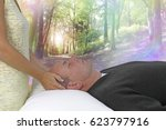 dream state spiritual healing... | Shutterstock . vector #623797916
