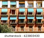 vintage apartament building... | Shutterstock . vector #623803430