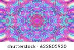 abstract colorful painted... | Shutterstock . vector #623805920