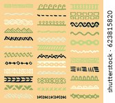 collection of hand drawn... | Shutterstock .eps vector #623815820