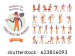 ready to use character set.... | Shutterstock .eps vector #623816093