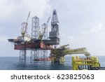 oil and gas industries. view of ...   Shutterstock . vector #623825063