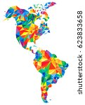 abstract continents of north... | Shutterstock . vector #623833658