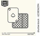 three cards. vector single...   Shutterstock .eps vector #623836394
