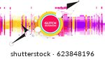 geometric glitch abstract... | Shutterstock .eps vector #623848196