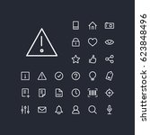 alert icon in set on the black... | Shutterstock .eps vector #623848496