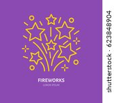 fireworks line icon. vector...