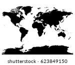 map of world black vector... | Shutterstock .eps vector #623849150