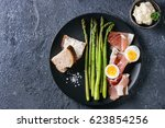 Cooked Green Asparagus With...
