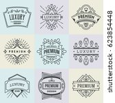 assorted premium luxury... | Shutterstock .eps vector #623854448