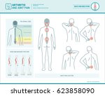 back pain and body posture... | Shutterstock .eps vector #623858090