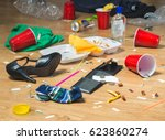 next morning to a party.... | Shutterstock . vector #623860274