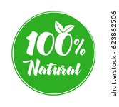 100  natural product label....   Shutterstock .eps vector #623862506