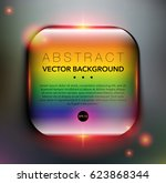 abstract background. glass... | Shutterstock .eps vector #623868344
