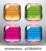 abstract vector banner set of 4....   Shutterstock .eps vector #623868434