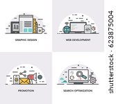 vector linear design. concepts... | Shutterstock .eps vector #623875004