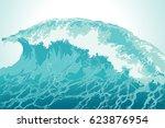 Background Water Splash In Blu...