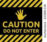 do not enter sign yellow | Shutterstock .eps vector #623881148