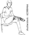 guy on the chair | Shutterstock .eps vector #62388466