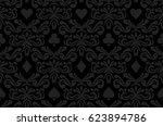 seamless black background with... | Shutterstock .eps vector #623894786