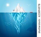 Vector Iceberg Infographics...