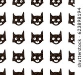 seamless pattern with cute hero ... | Shutterstock .eps vector #623898194