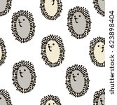 seamless pattern with cute... | Shutterstock .eps vector #623898404
