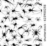 illustration with spider... | Shutterstock .eps vector #623900258