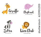 vector logo template. baby... | Shutterstock .eps vector #623901203